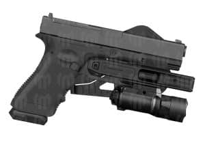 Recover Tactical G7 OWB Light bearing Holster for all Double Stack Glock 9mm/SW40/357 Pistols with Integral Rail for a light or a laser 9
