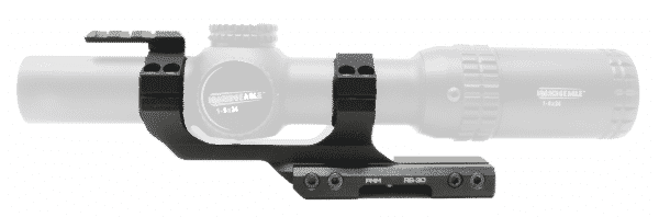 """PMM RS-30 Premium Cantilever Ring Mount for 30mm Tube w/ 2"""" Offset with Reflex Sight Picatinny Mount 1"""