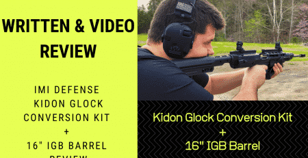 Written & Video Review IMI Defense Kidon Glock Conversion Kit + 16 IGB Barrel Review (Medium)