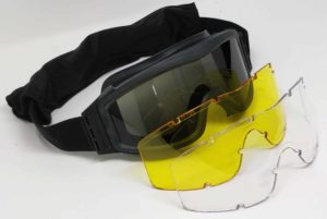 KIRO Goggle for Shooting and Tactical Environments with 3 Types of Lenses 1