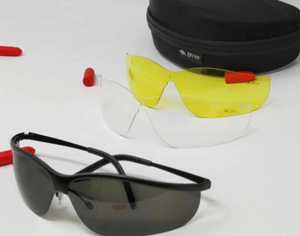 KIRO Sun Glasses Shooting Glasses for Tactical and-Everyday Use Semi Rimless Frame