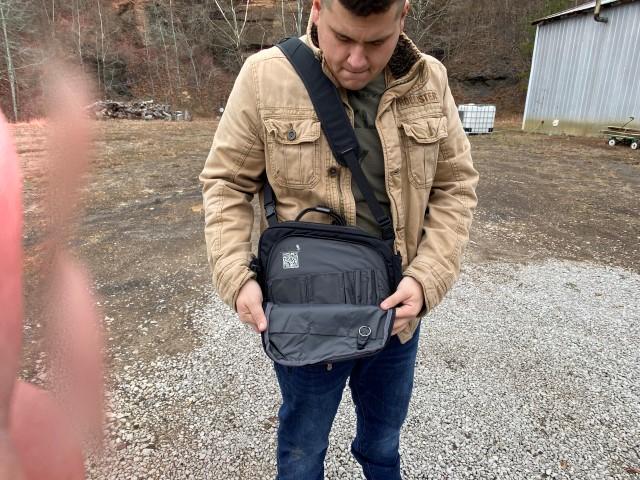 Lackrif concealed carry shoulder bag design
