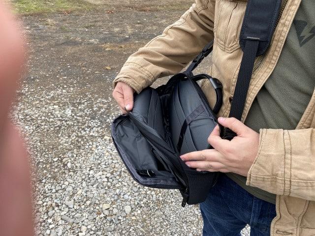 Lackrif concealed carry shoulder bag empty