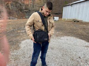 Lackrif concealed carry shoulder bag usability