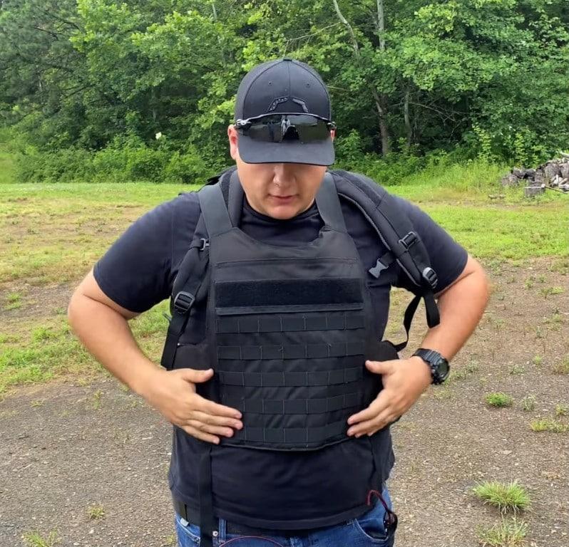 Bulletproof backpack is now a bulletproof Vest Level 3A