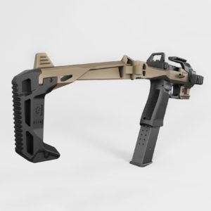 Recover Tactical 2020 Buttstock - On 2020 Tan - BE20j 3