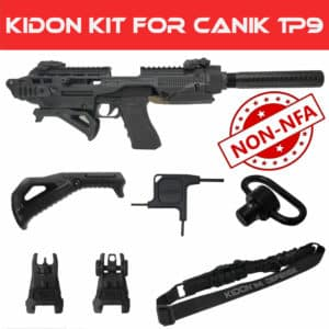 KIDON NON-NFA for Canik TP9 - TP9SFX, TP9SF, TP9SA, TP9SF ELITE-S, TP9SF ELITE, TP9SF ELITE COMBAT (IMI Defense) 38